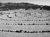 Zen Rock Garden In The Desert