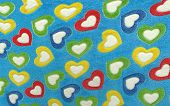 funny blanket for kids with hearts of love