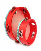 Tambourines red big and small