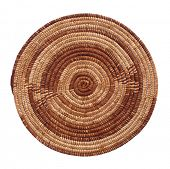 Pot holder brown made of natural fibers