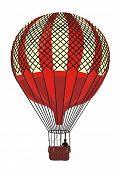 Hot Air Balloon Vintage vector illustration
