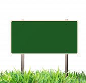 stock photo of road sign  - Traffic sign green - JPG