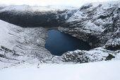 Irish Corrie Lake In Winter