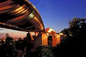 picture of faber  - Singapore Henderson wave bridge shine at dusk - JPG