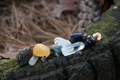 stock photo of wicca  - Quartz and healing stones for use in meditation and aura work