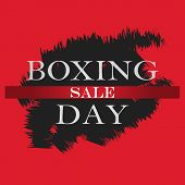 Boxing Day Sale Banner. Boxing Day Design Template For Banner, Flyer. Vector Illustration. poster