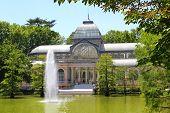 Madrid Palacio de Cristal in Retiro Park glass crystal palace Spain