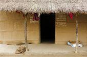 traditionelle nepalesische Hütte auf Chitwan, nepal
