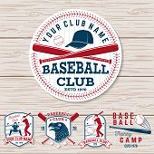 Set Of Baseball Or Softball Club Badge. Vector. Concept For Shirt Or Logo, Print, Stamp, Patch Or Te poster