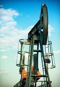 foto of nonrenewable  - pumpjack - JPG