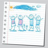 De gelukkige kinderen Krabbel