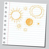 picture of hand drawn  - Scribble suns - JPG