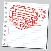 Scribble brick wall