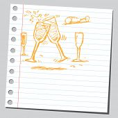 Scribble champagne flutes