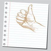 Scribble thumb up
