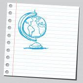 Globo de mesa desenhada de mão