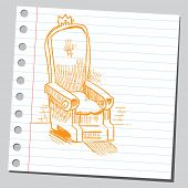 Sketch of a king's throne