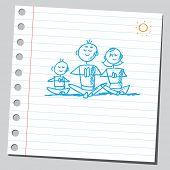 Постер, плакат: Схематичный иллюстрации йога семьи