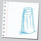 Sketchy illustration of a salt shaker