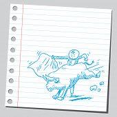 Illustration of a matador and bull