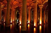 ancient underground water reservoir in Istanbul