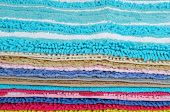 Colorful carpets.
