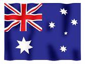Australia Flag Fluttering
