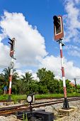 Railroad With Alarm Lights