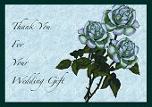 Three Roses Wedding Gift Thank You