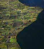 Indonesian village Cemoro Lawang situated on an edge of caldera of old giant volcano