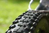 Bicycle Tyre Tread Close-Up