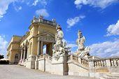 The Gloriette in the Schloss Schoenbrunn Palace Garden, built in 1775, A UNESCO World Cultural Heritage, Vienna - Austria
