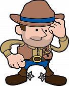 Ilustração de Cowboy xerife