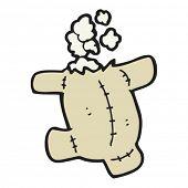Cartoon Teddybär mit Kopf abgerissen