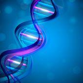 Abstrato médico com DNA colorido. EPS 10.