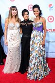 LOS ANGELES - SEP 16:  Sandra Vidal, Eva Longoia, Victoria Rowell arrives at the 2012 ALMA Awards at