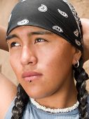 Portrait Of A Native American Teenage Boy