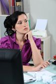 Frustrated female office worker