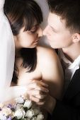 Intimate Moment Between Bride And Groom