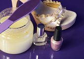 Gold Sandals And Everything Needed For Pretty Feet