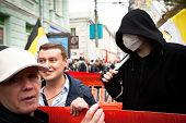 MOSCOW - SEPTEMBER 15: Opposition activists and supporters take part in an anti-Putin protest on Sep