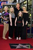LOS ANGELES - SEP 17: Gary LeVox and family at a ceremony where the band Rascal Flatts receive a sta