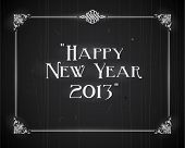 Movie still screen - Happy New Year 2013 - Editable Vector EPS10