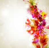 Abstract background with flower and design elements