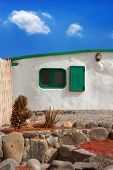 stock photo of papagayo  - Lanzarote typical white house in costa Papagayo Canary Islands - JPG