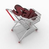 the shopping cart with sale inwardly