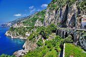 vista deslumbrante da costa de Amalfi