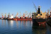 Dry-Cargo Ships At Port Moorings