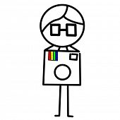 an illustration of a guy with a camera