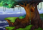 foto of hollow  - Illustration of a detailed tree hollow - JPG